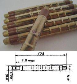 画像1: ガイガーカウンター用GM管(感度テスト合格品)
