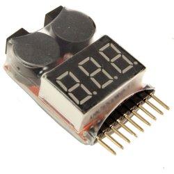 画像1: 1-8S リポバッテリーテスター/アラーム付きデジタルモニター