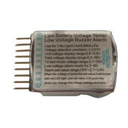 画像3: 1-8S リポバッテリーテスター/アラーム付きデジタルモニター